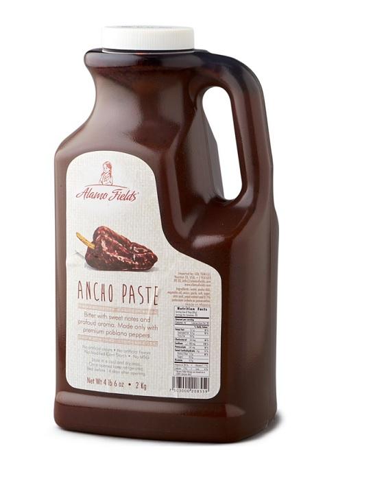 Alamo Fields, Ancho Paste, 2kg (Plastic Bottle)