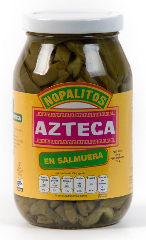 Azteca, Cactus Strips in Brine, 460g (Glass) = Nopales