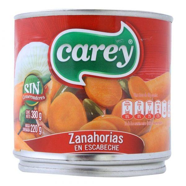 Carey Zanahorias en Escabeche 380 g (Tin) - Pickled Carrots Sliced
