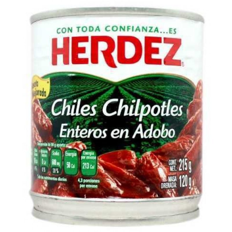 Herdez Chiles Chipotles en Adobo, 215g (Tin)