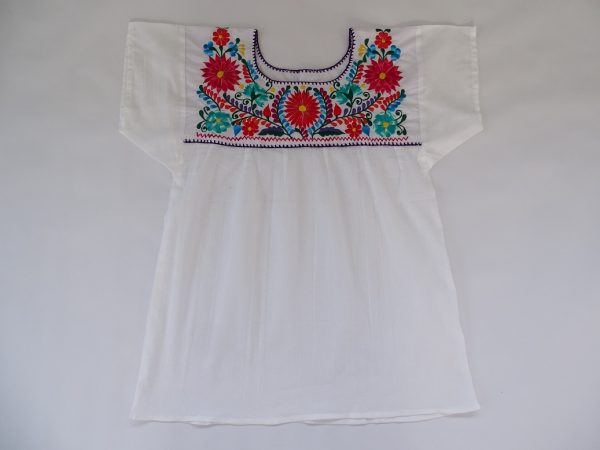 Cotton, Round Neck, Shoulder Level Sleeves, Top (White Colour)