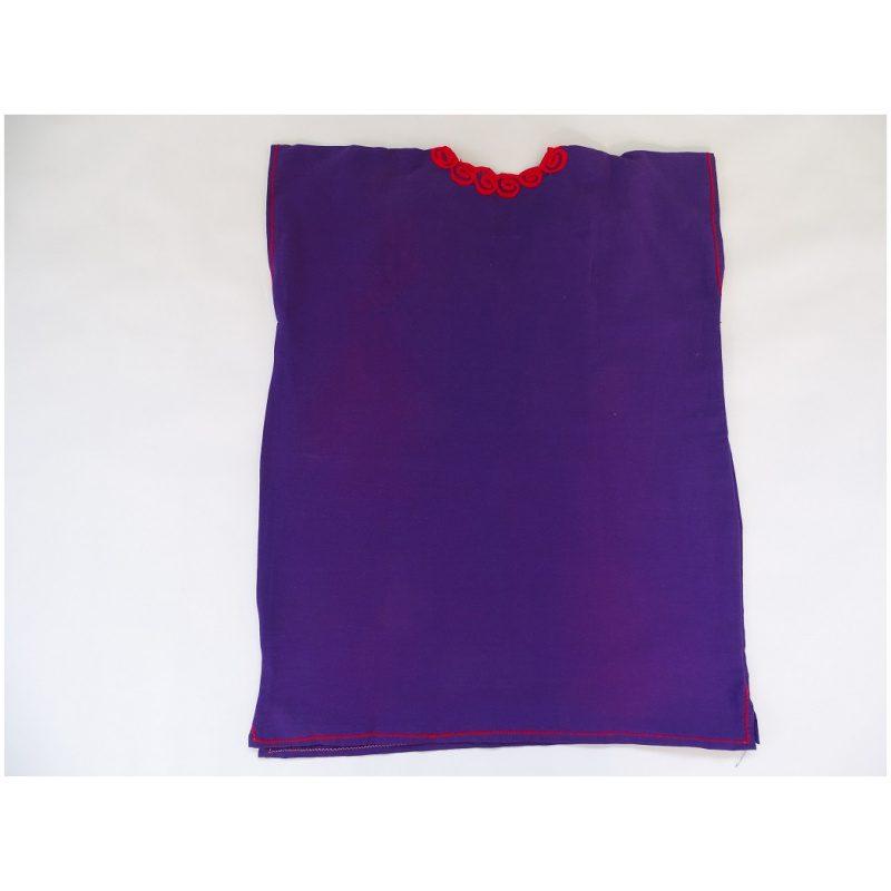 Cotton V Neck, No Sleeves, Top (Purple Colour)