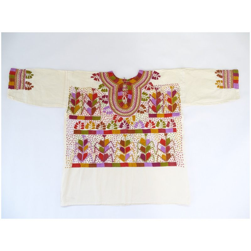 Cotton, Round Neck, Long Sleeves, Top (Ivory Colour)