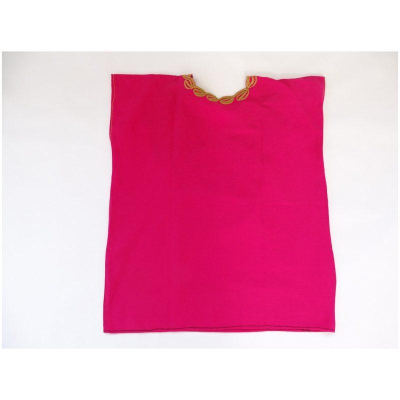Cotton V Neck, No Sleeves, Top (Cerise Colour)