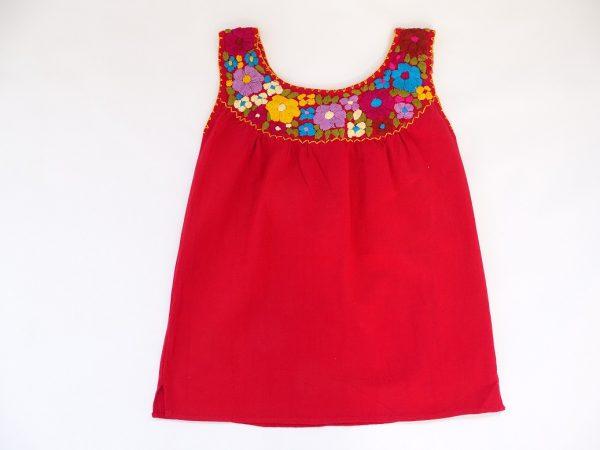 Cotton Round Neck Top (Red)
