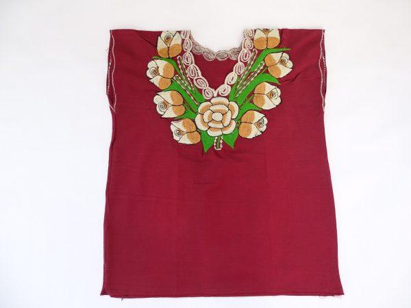 Cotton V Neck, No Sleeves, Top (Burnt Umber Colour)