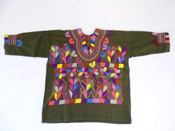 Cotton Round Neck, Long Sleeves, Top (Green Army Colour)