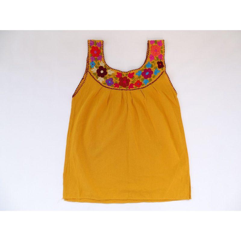 Cotton Round Neck Top (Yellow)