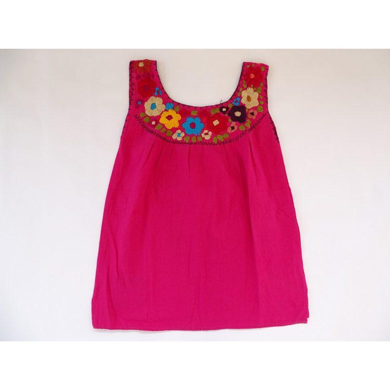 Cotton Round Neck Top (Dark Pink)