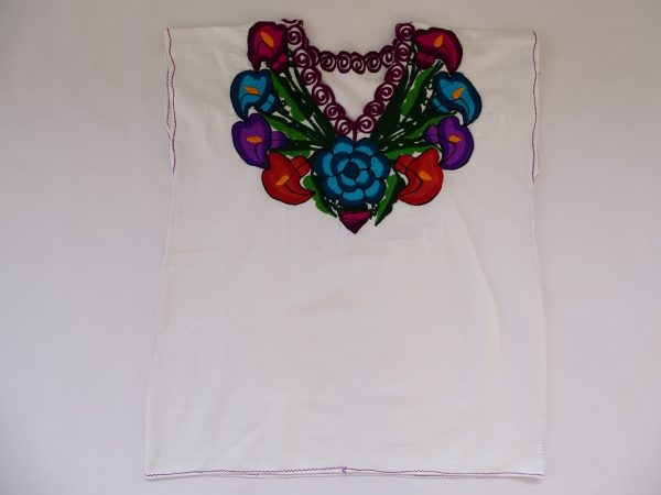 Cotton V Neck, No Sleeves, Top (White)