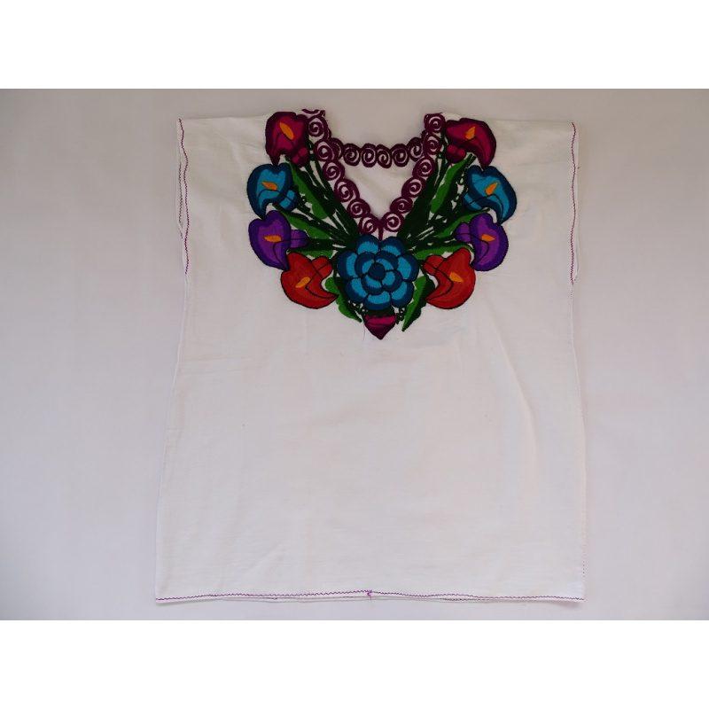Cotton V Neck, No Sleeves, Top (White)