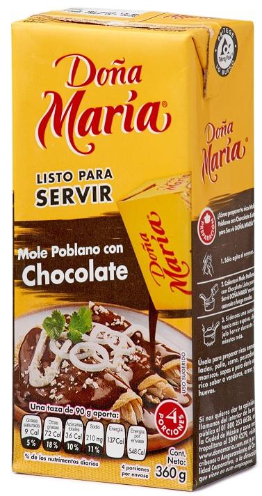 Dona Maria 360g, Mole Poblano con Chocolate, Listo para Servir
