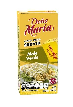 Mole Verde, Doña Maria, 360g, Listo para Servir