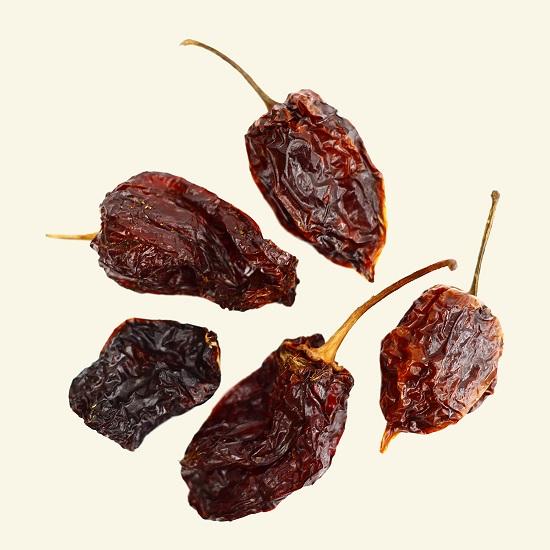 Whole Dried Habanero Chilli 100g (Bag), [Chile Habanero, Chili Habanero]