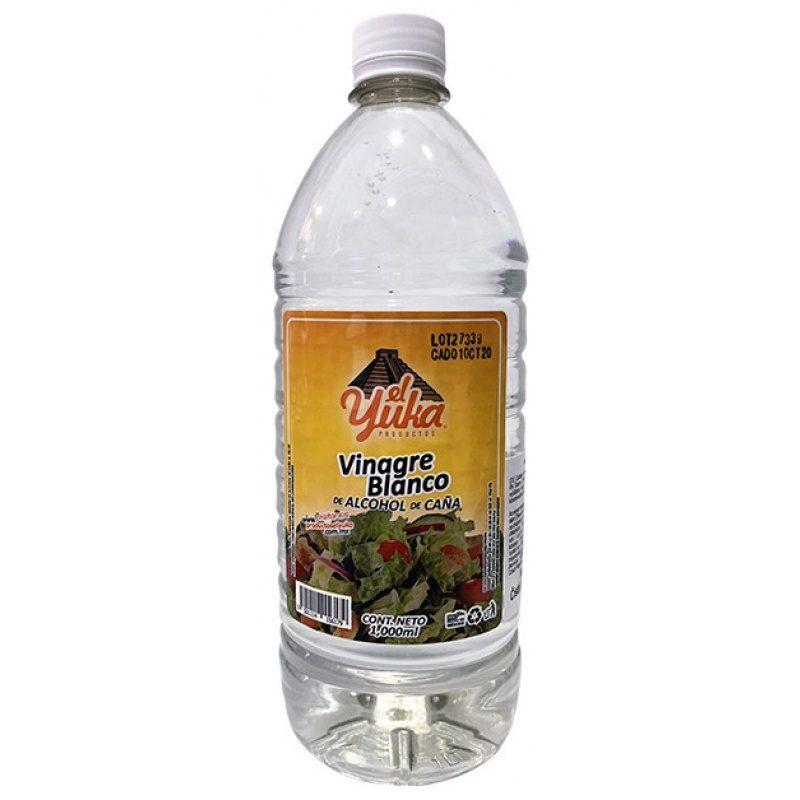Vinagre Blanco de Alcohol de Caña, 1lt, El Yuka