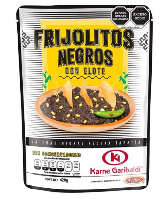 Garibaldi, Refried Black Beans with Corn, 420g (Pouch)