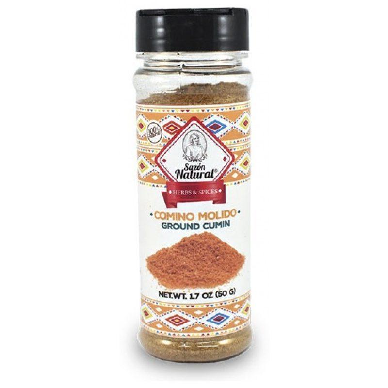 Comino Molida [Ground Cumin] 50g, Sazon Natural (Plastic Jar)