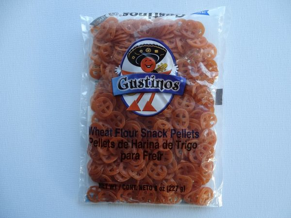 Gustinos Wheat Flour Snack Pellets, Wheel (Chicharrones de Harina), 227g