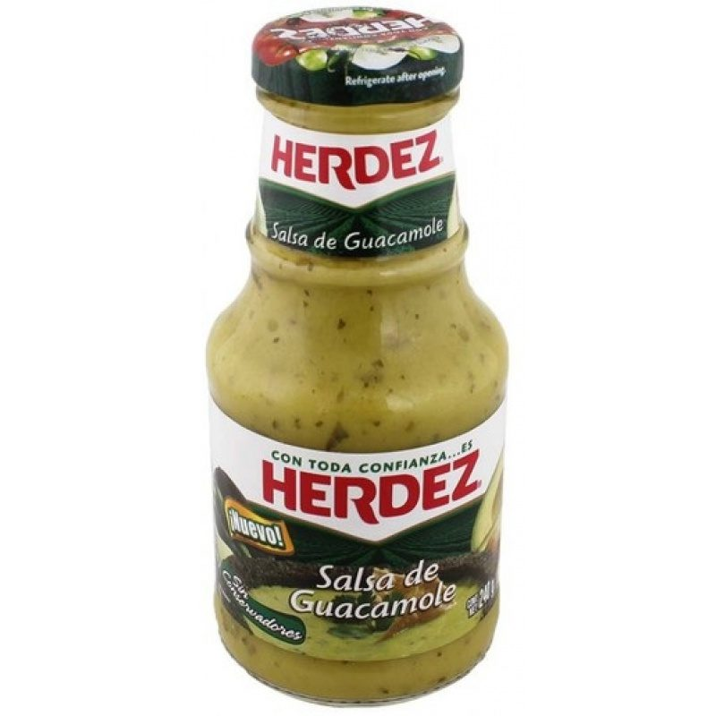 Herdez Salsa de Guacamole, 240g (Glass)