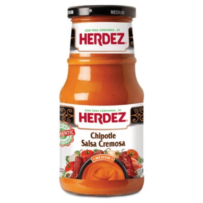 Herdez Chipotle Salsa Cremosa, 434g (Glass)