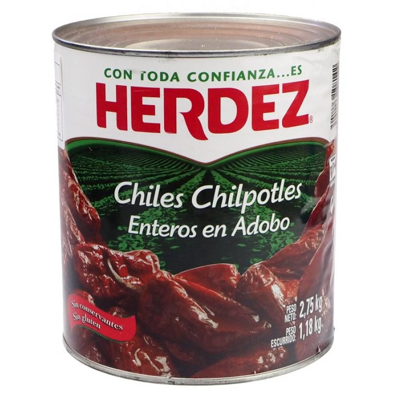 Herdez Chiles Chipotles en Adobo, 2.75kg (Tin)