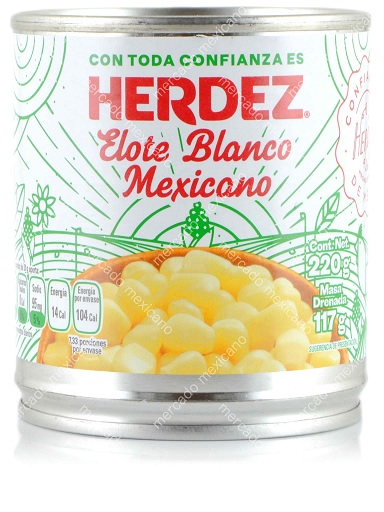Herdez Elote Blanco Mexicano, 220g (Tin)