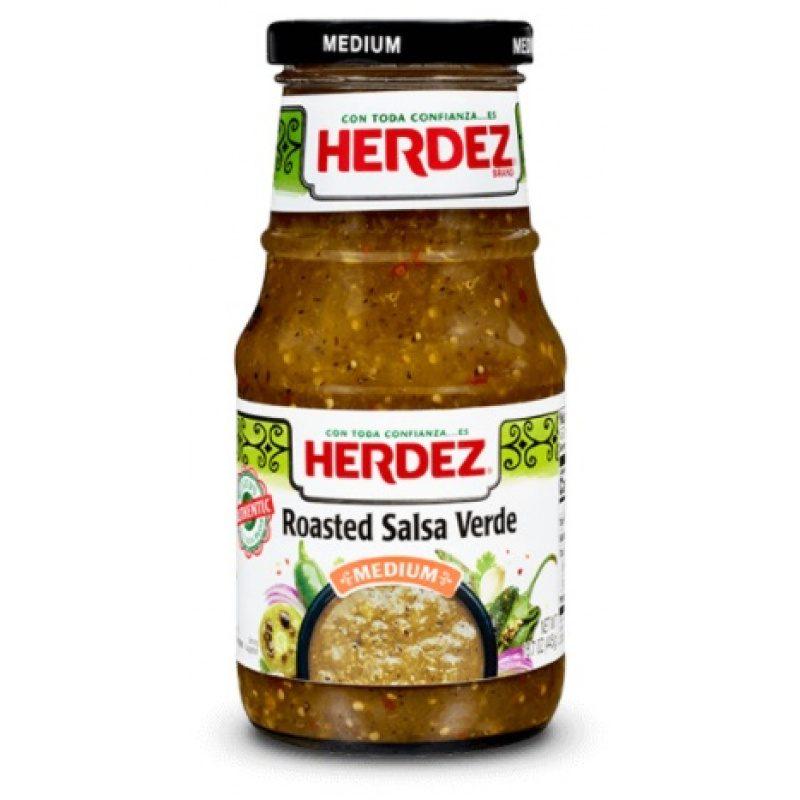 Herdez Roasted Salsa Verde, 445g (Glass)