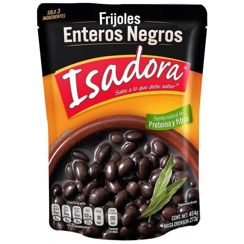 Isadora Black Whole Beans pouch 454g