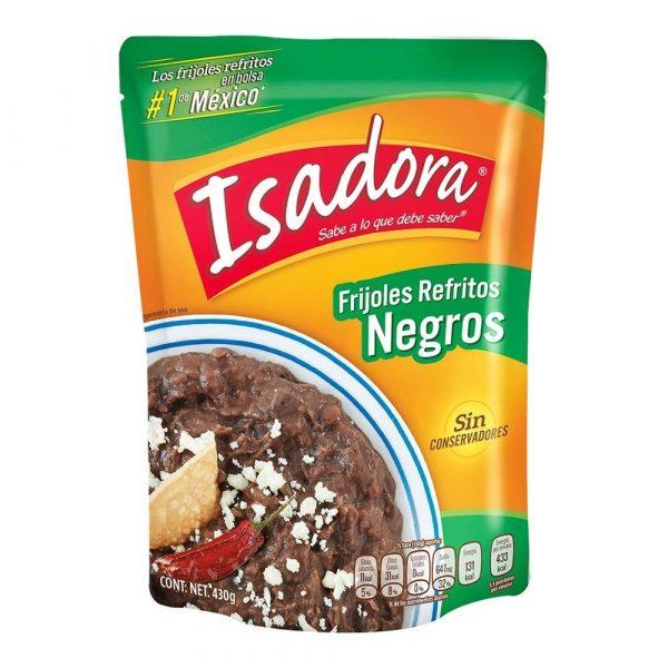 Isadora Frijoles Refritos Negros 430g (Pouch)