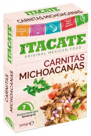 ITACATE, Carnitas Michoacanas, 300gr (Cooked Pork Meat)