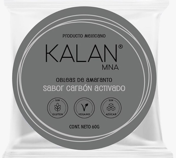 KALAN, Amaranth Wafers, Activated Charcoal, 60g (Diameter 8cm) = OBLEAS