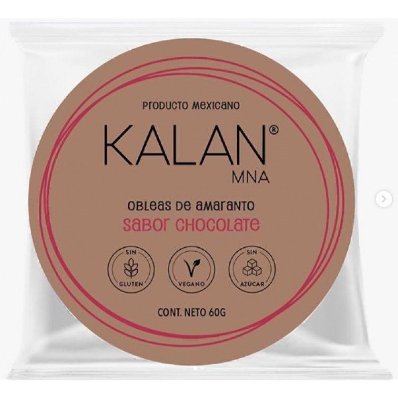 KALAN, Amaranth Wafers, Chocolate, 60g (Diameter 8cm) = OBLEAS