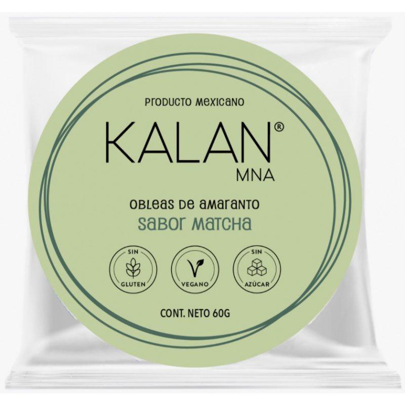 KALAN, Amaranth Wafers, Matcha Green Tea, 60g (Diameter 8cm) = OBLEAS