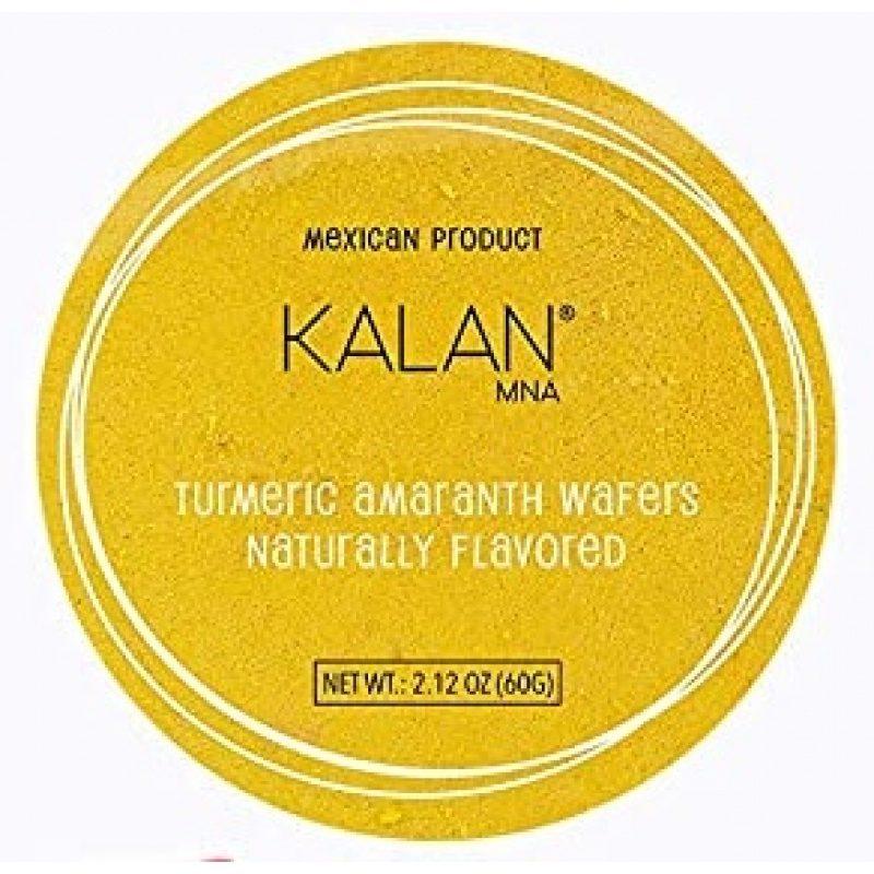 KALAN, Amaranth Wafers, Turmeric & Spices, 60g (Diameter 8cm) = OBLEAS