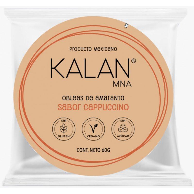 KALAN, Amaranth Wafers, Vanilla Coffee, 60g (Diameter 8cm) = OBLEAS