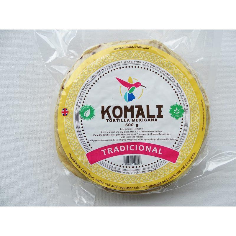 Komali Corn Tortilla 15cm, 500g
