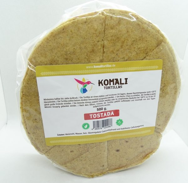 Komali Corn Tortilla Precut for Frying (Nachos), 15cm, 500g (35pcs)