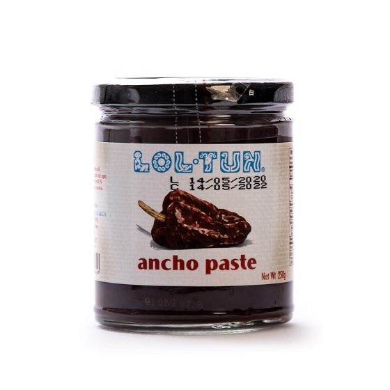 LOL TUN Ancho Paste, 250g (Glass)