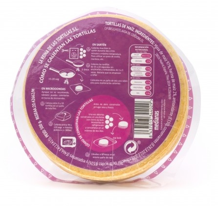 La Reina de las Tortillas, Corn Tortillas, 12cm, 250g