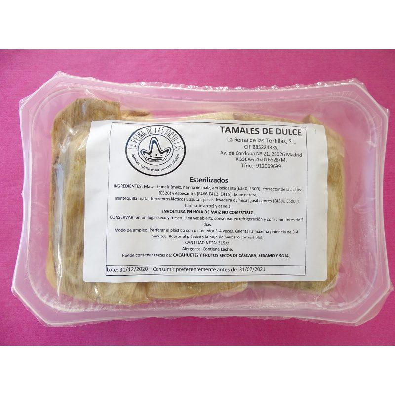 La Reina de las Tortillas, 3 Tamales de Dulce (Sweet Tamales), 315g