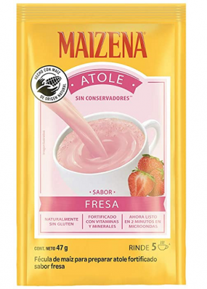 Maizena Atole Strawberry 47g (Powder) = Fresa