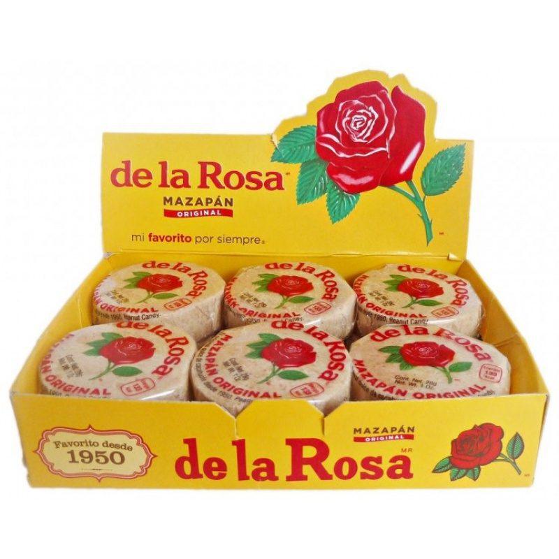 Mazapan de La Rosa, Peanut Candy (Box) 12 x 28g