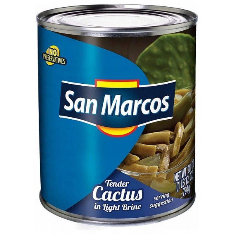San Marcos, Nopales (Cactus) en Escabeche, 800g (Tin)