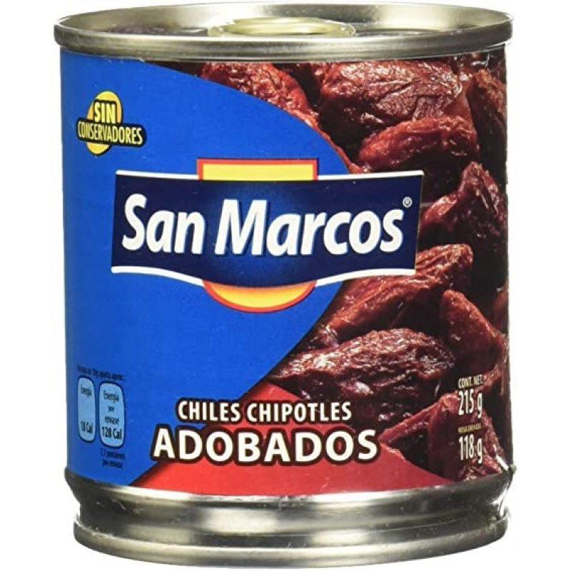 San Marcos, Chiles Chipotles en Adobo, 215g (Tin)