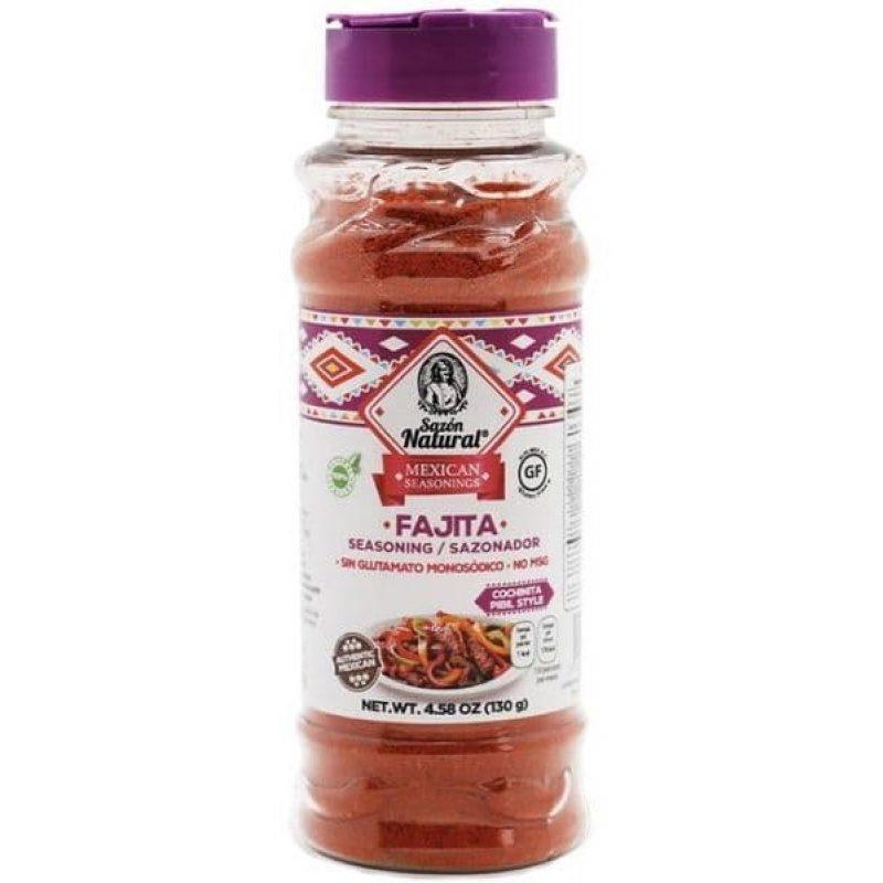 Sazon Natural, Seasoning for Fajitas, 130g (Bottle)
