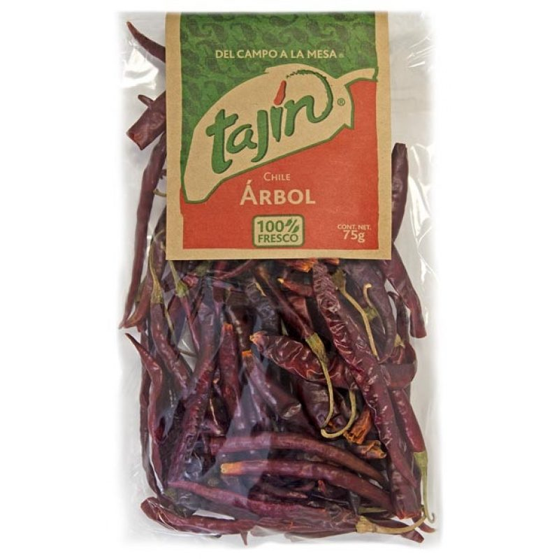 Tajin Chilli Arbol Package 75g, [ Chile Arbol, Chili Arbol]