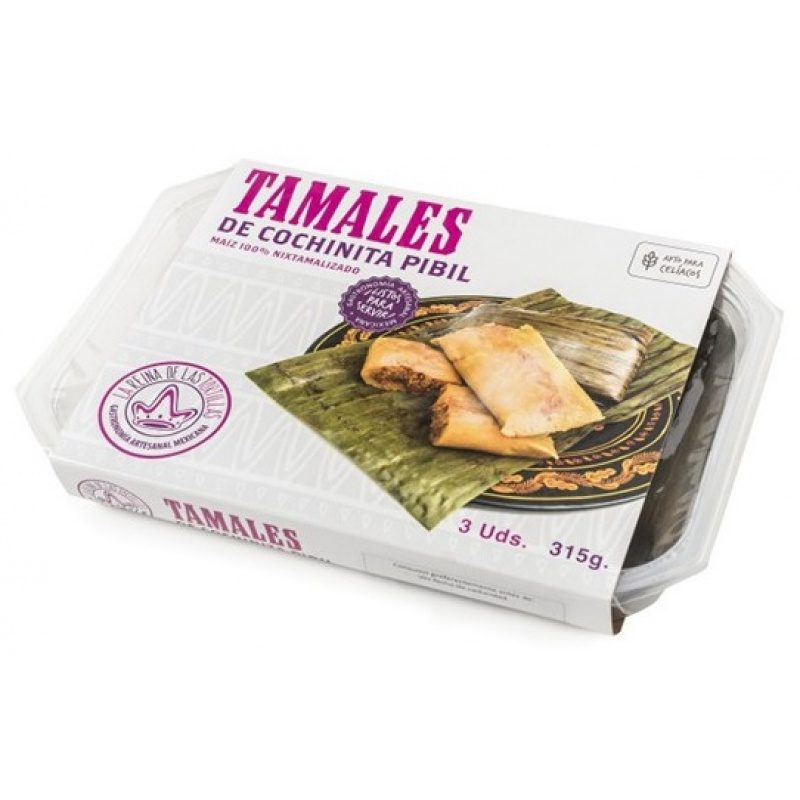 Tamales Cochinita Pibil, 3pcs, 315g (Prepared Dish)