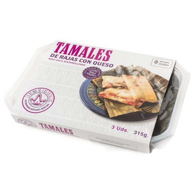 Tamales Rajas con Queso, 3pcs, 315g (Prepared Dish)