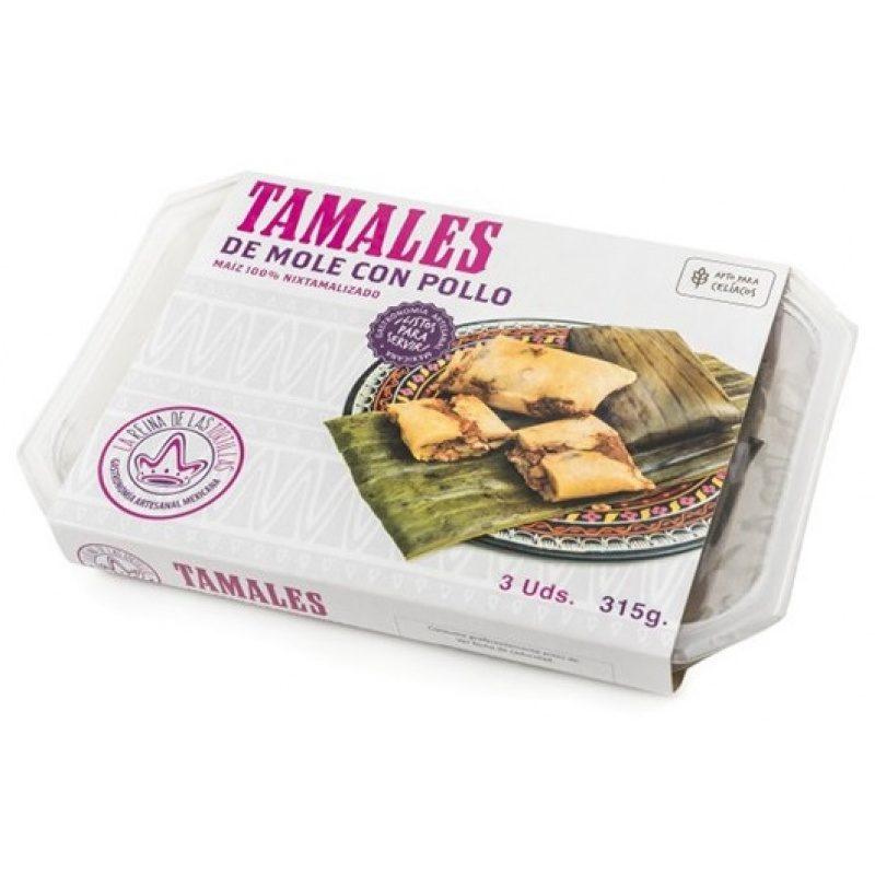 Tamales Mole con Pollo, 3pcs, 315g (Prepared Dish)