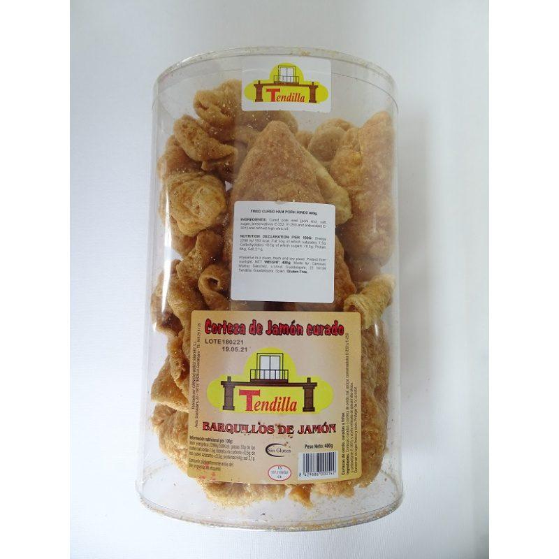 Tendilla, Chicharron, Cured Ham Pork Rinds 400g (Container)